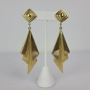 Gold Tone Statement Earrings